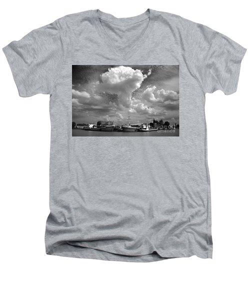 Old Ships Men's V-Neck T-Shirt by Bernardo Galmarini