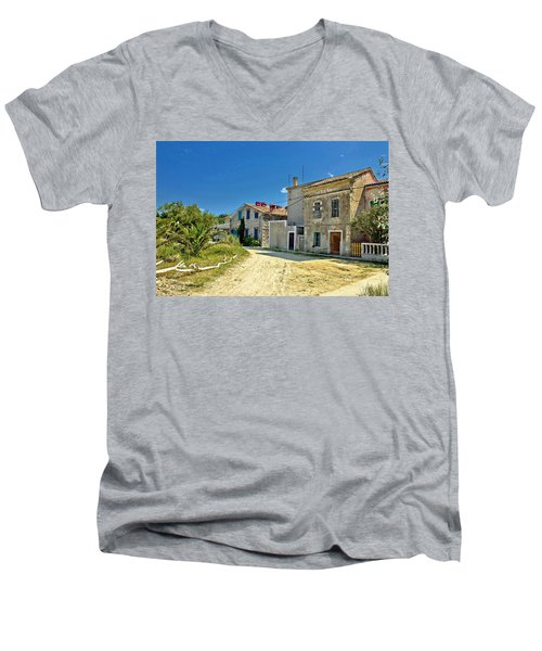 Old Streets Of Susak Island Men's V-Neck T-Shirt