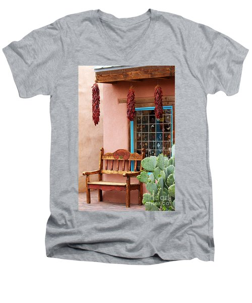 Old Town Albuquerque Shop Window Men's V-Neck T-Shirt by Catherine Sherman