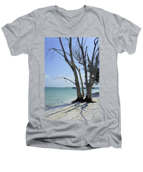 Men's V-Neck T-Shirt featuring the photograph Old Tree by Laurie Perry