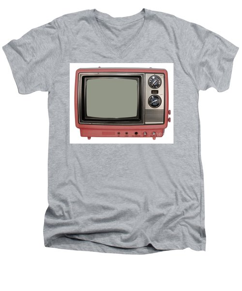 Vintage Tv Set Men's V-Neck T-Shirt