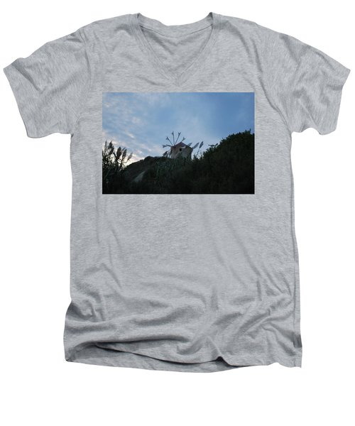 Old Wind Mill 1830 Men's V-Neck T-Shirt