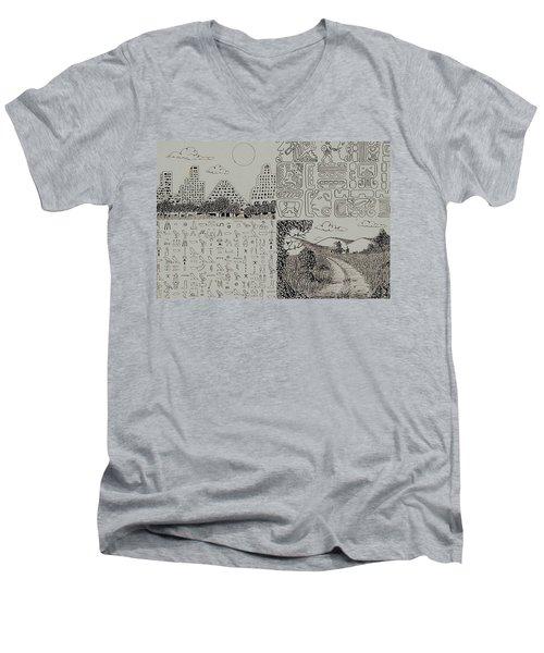 Old World New World Men's V-Neck T-Shirt
