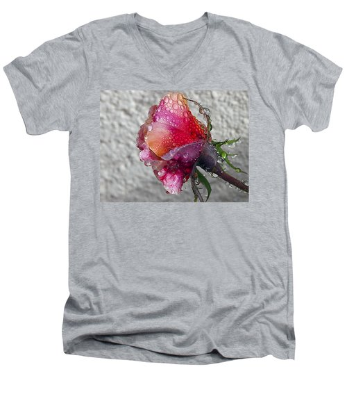 Men's V-Neck T-Shirt featuring the photograph Olde English by Joe Schofield