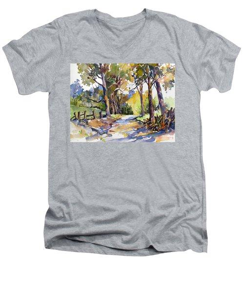 Olinda Trees Maui Men's V-Neck T-Shirt