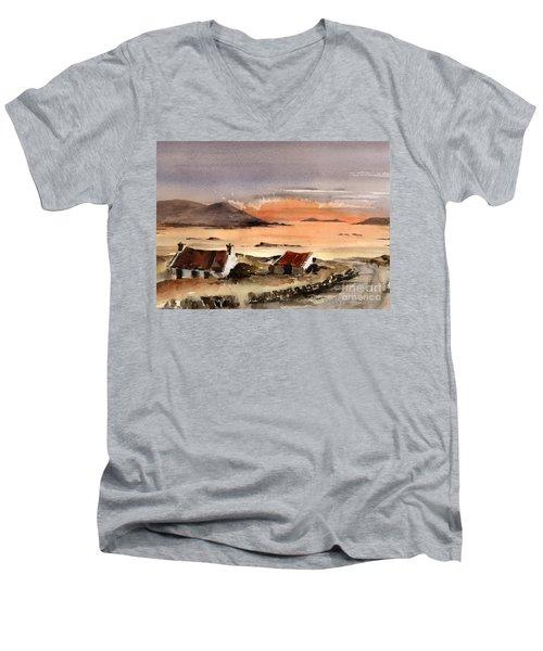 Omey Island Sunset Galway Men's V-Neck T-Shirt