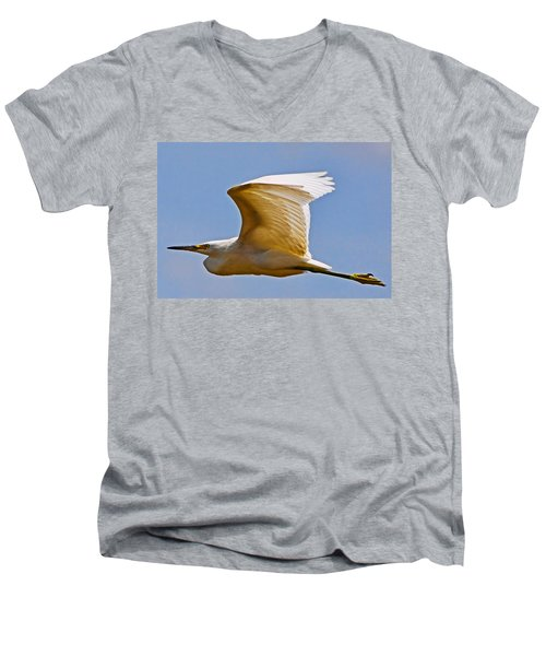 On Angel's Wings Men's V-Neck T-Shirt