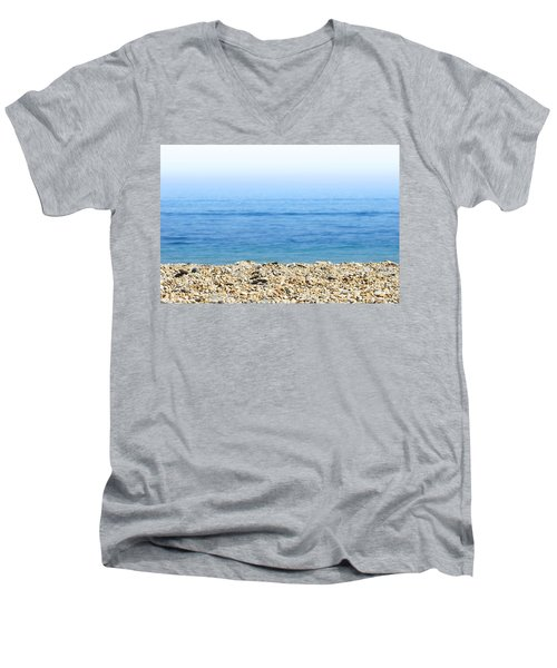 On The Beach Men's V-Neck T-Shirt by Chevy Fleet