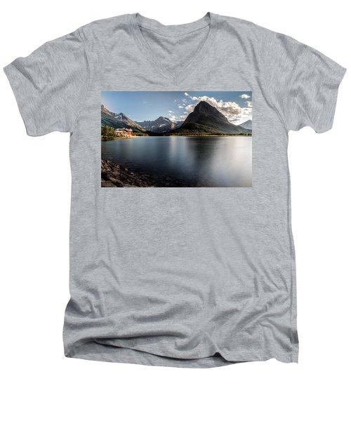 On The Edge Men's V-Neck T-Shirt by Aaron Aldrich