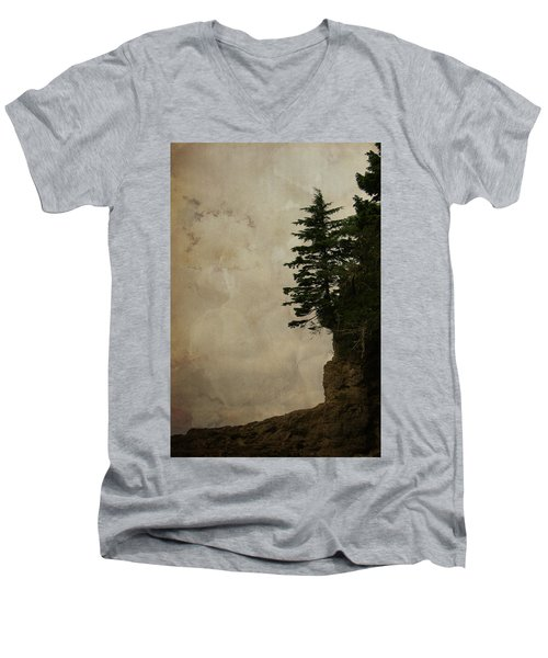 On The Edge Men's V-Neck T-Shirt by Marilyn Wilson