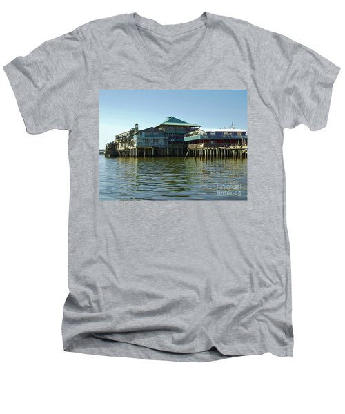 On The Gulf Men's V-Neck T-Shirt