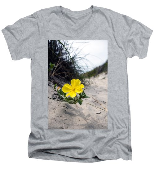 Men's V-Neck T-Shirt featuring the photograph On The Path by Sennie Pierson