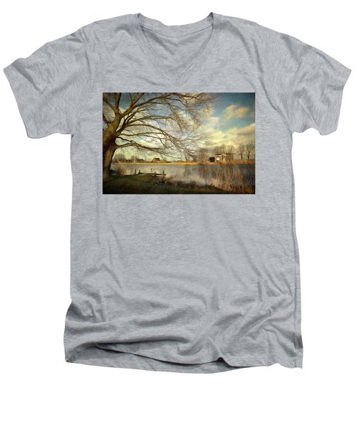 On The River Side Men's V-Neck T-Shirt