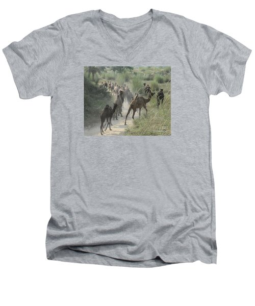 On The Road To Pushkar Men's V-Neck T-Shirt