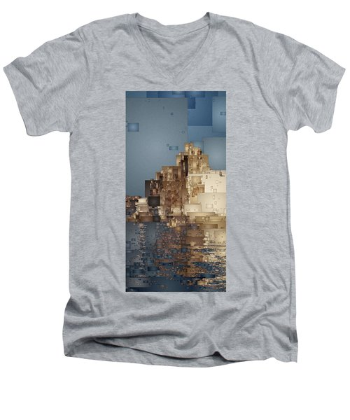 On The Rocks Men's V-Neck T-Shirt by David Hansen