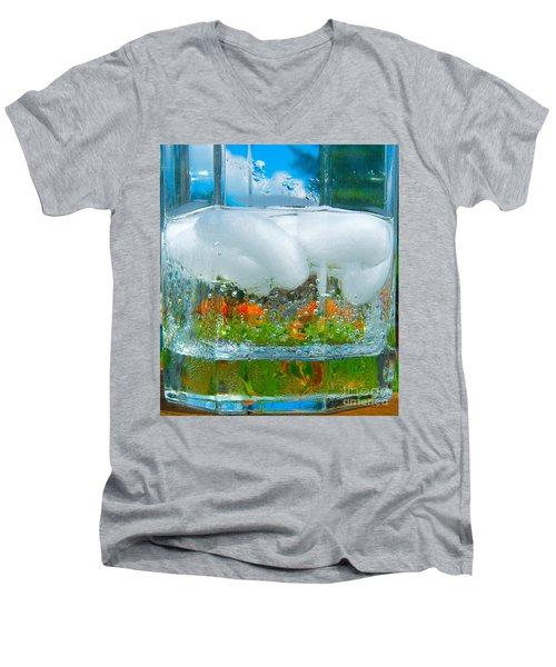 On The Rocks Men's V-Neck T-Shirt by Pamela Clements