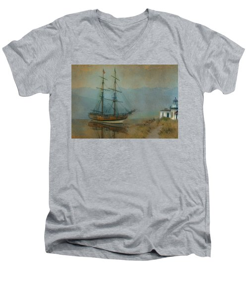 On The Water Men's V-Neck T-Shirt by Jeff Burgess