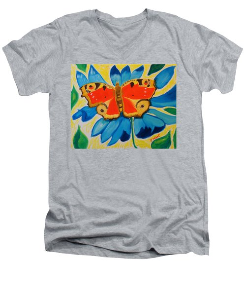 On Top Of My World Men's V-Neck T-Shirt