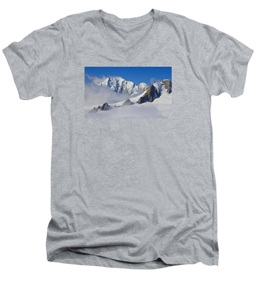 On Top Of The World Men's V-Neck T-Shirt by Venetia Featherstone-Witty