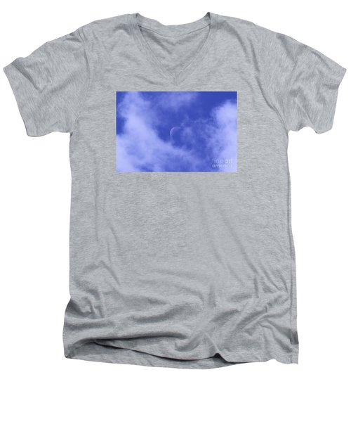 Men's V-Neck T-Shirt featuring the photograph Once In A Blue Moon by Judy Whitton