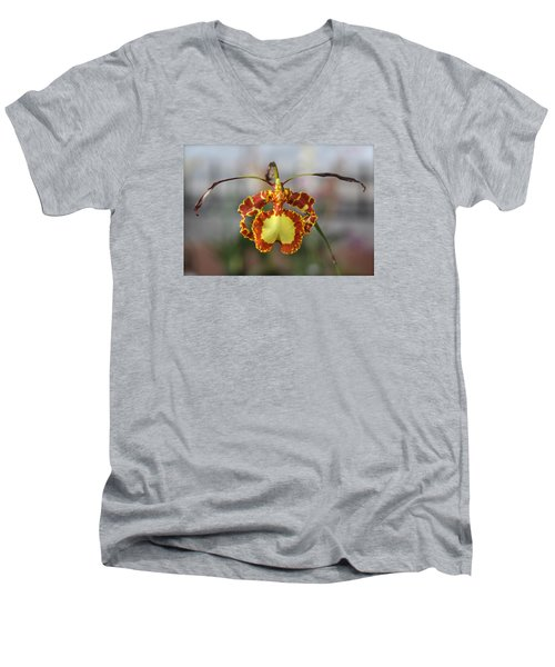 Oncidium Dancing Lady  Men's V-Neck T-Shirt by Venetia Featherstone-Witty