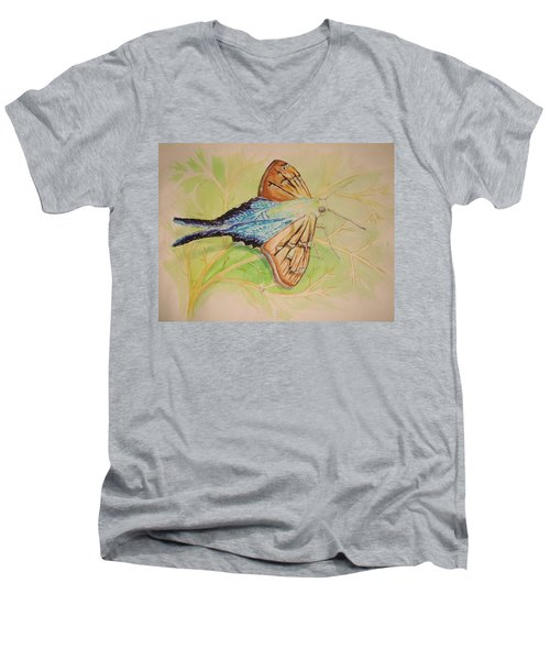 One Day In A Long-tailed Skipper Moth's Life Men's V-Neck T-Shirt
