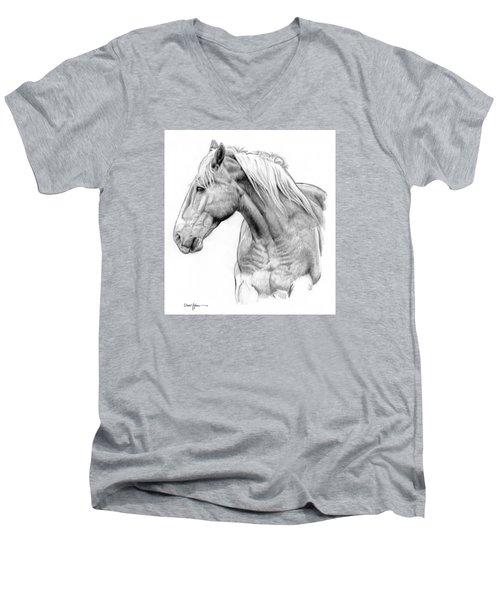 Da134 One Horse Daniel Adams  Men's V-Neck T-Shirt