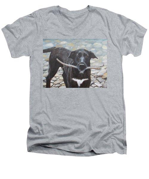 One More Time Men's V-Neck T-Shirt