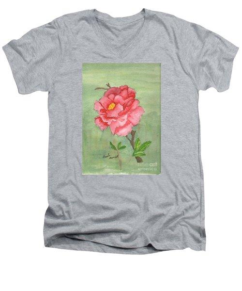 One Rose Men's V-Neck T-Shirt