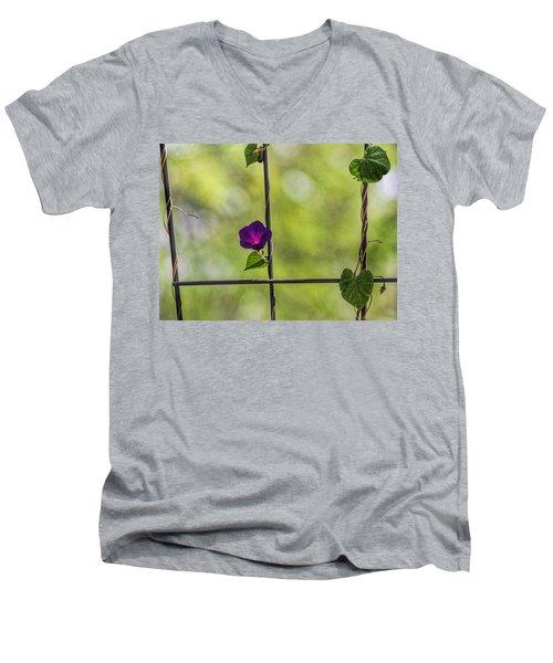 One Men's V-Neck T-Shirt by Tammy Espino