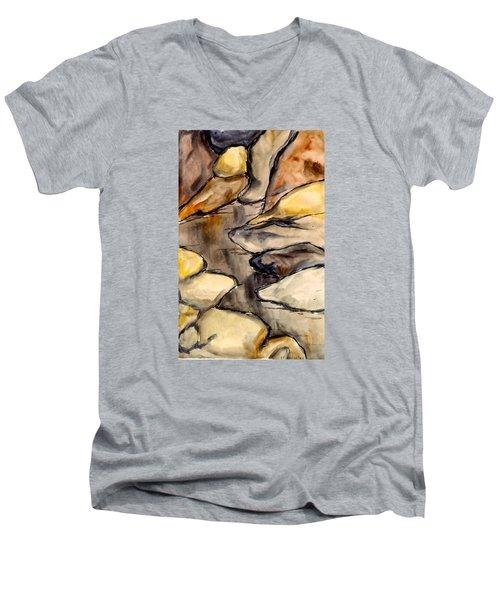 Only Rocks Men's V-Neck T-Shirt