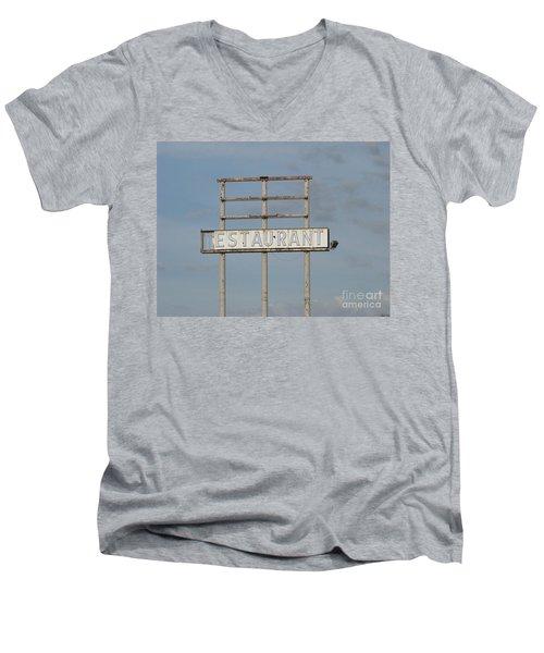 Men's V-Neck T-Shirt featuring the photograph Open 24 Hours by Michael Krek