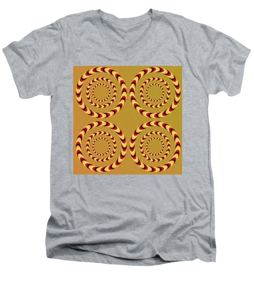 Optical Ilusions Summer Spin Men's V-Neck T-Shirt
