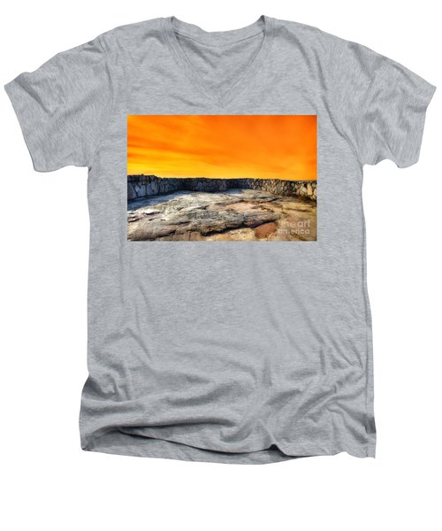 Orange Blaze Men's V-Neck T-Shirt