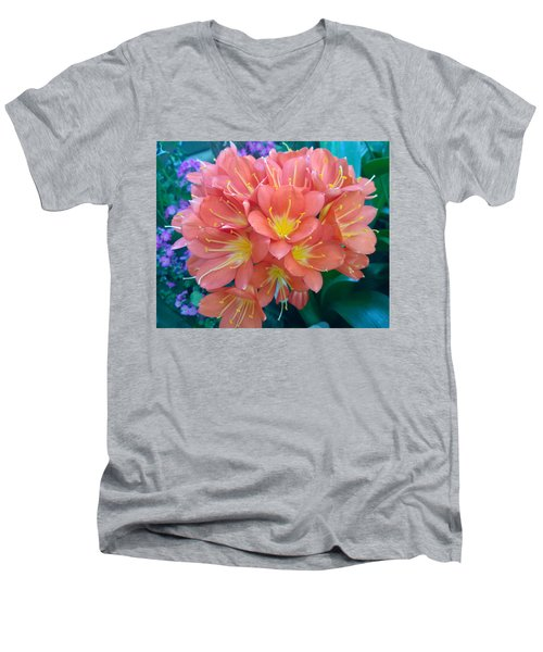 Orange Bouquet Men's V-Neck T-Shirt