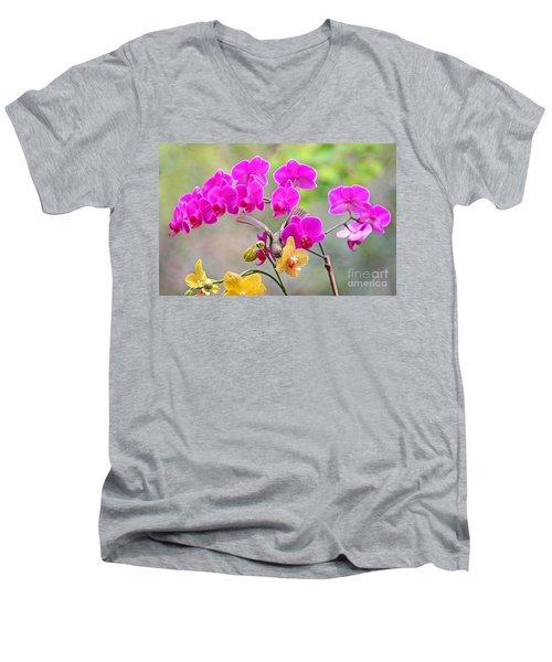 Warbler On Orchards Photo Men's V-Neck T-Shirt