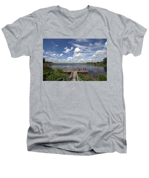 Orange Lake Men's V-Neck T-Shirt