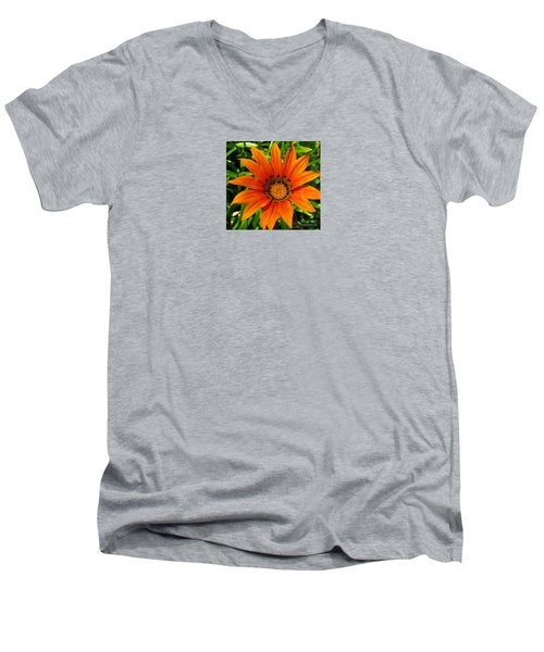 Men's V-Neck T-Shirt featuring the photograph Orange Sunshine by Janice Westerberg
