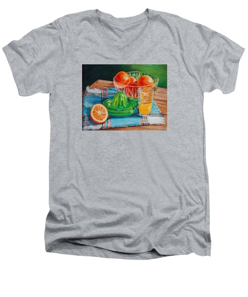 Oranges Men's V-Neck T-Shirt by Joy Nichols