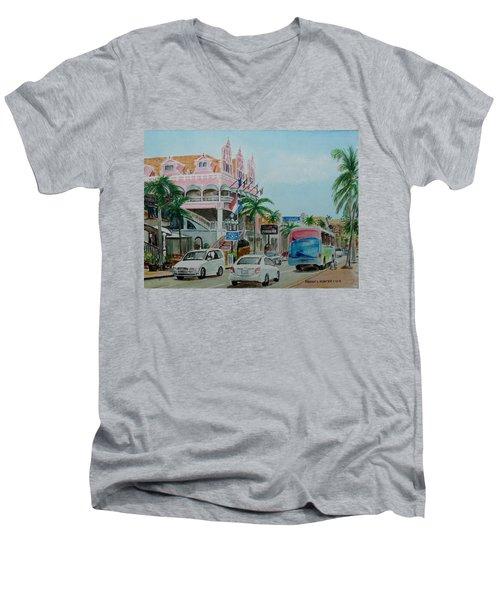 Oranjestad Aruba Men's V-Neck T-Shirt