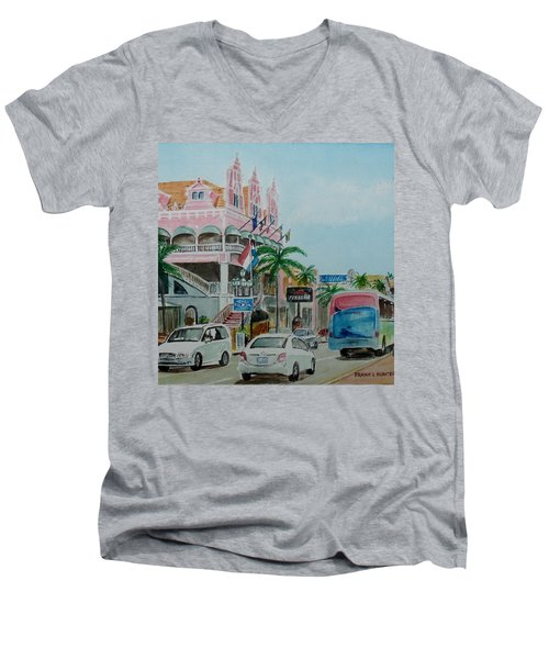 Oranjestad Aruba Men's V-Neck T-Shirt