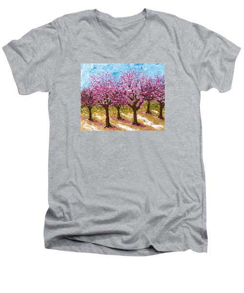 Orchard Men's V-Neck T-Shirt by Katherine Young-Beck