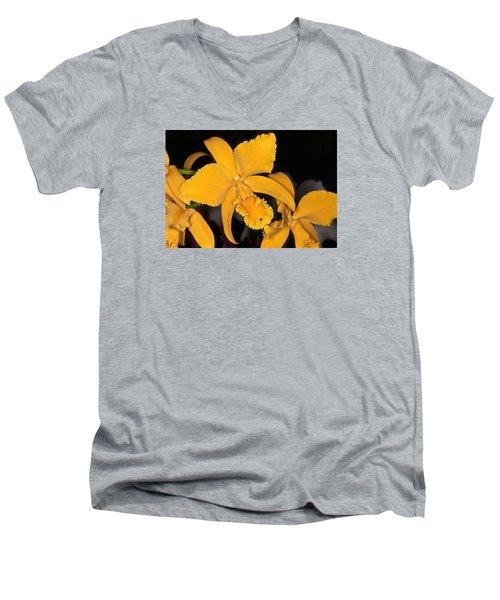 Orchid 5 Men's V-Neck T-Shirt by Andy Shomock
