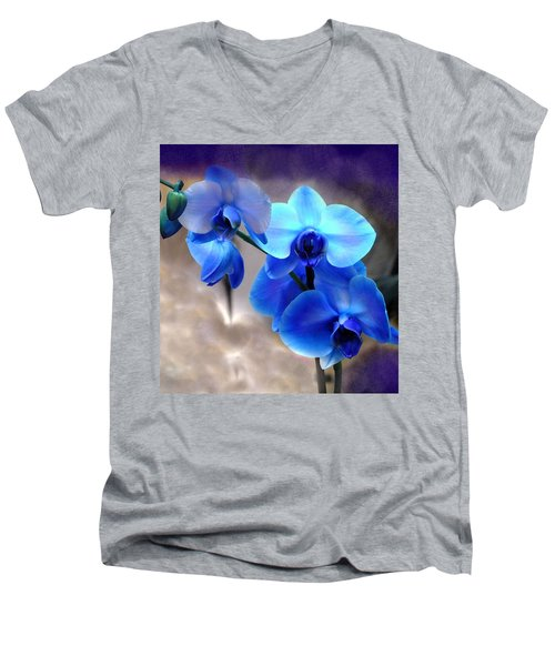 Orchid Art Men's V-Neck T-Shirt by Wendy McKennon