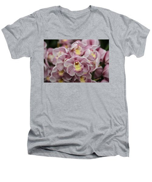 Orchid Bouquet Men's V-Neck T-Shirt