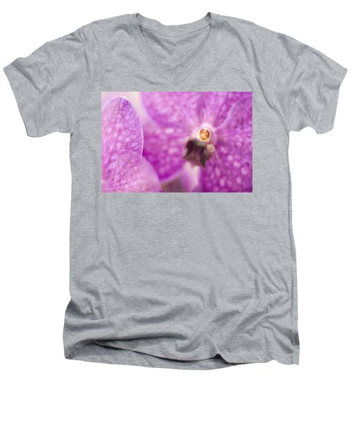 Men's V-Neck T-Shirt featuring the photograph Orchid by Bradley R Youngberg