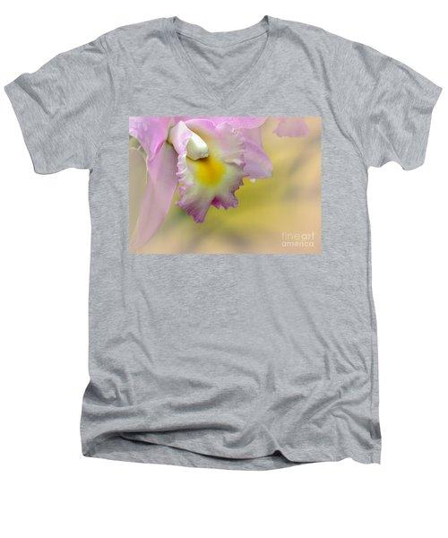 Orchid Whisper Men's V-Neck T-Shirt