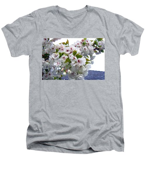 Oregon Cherry Blossoms Men's V-Neck T-Shirt