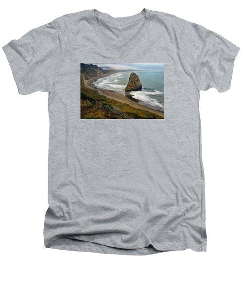 Oregon Coast Men's V-Neck T-Shirt by Priscilla Burgers