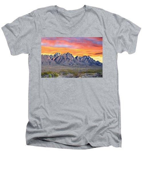 Organ Mountain Sunrise Most Viewed  Men's V-Neck T-Shirt